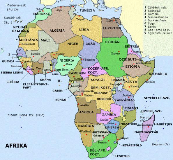 afrika országai térkép Afrika országai kép afrika országai térkép